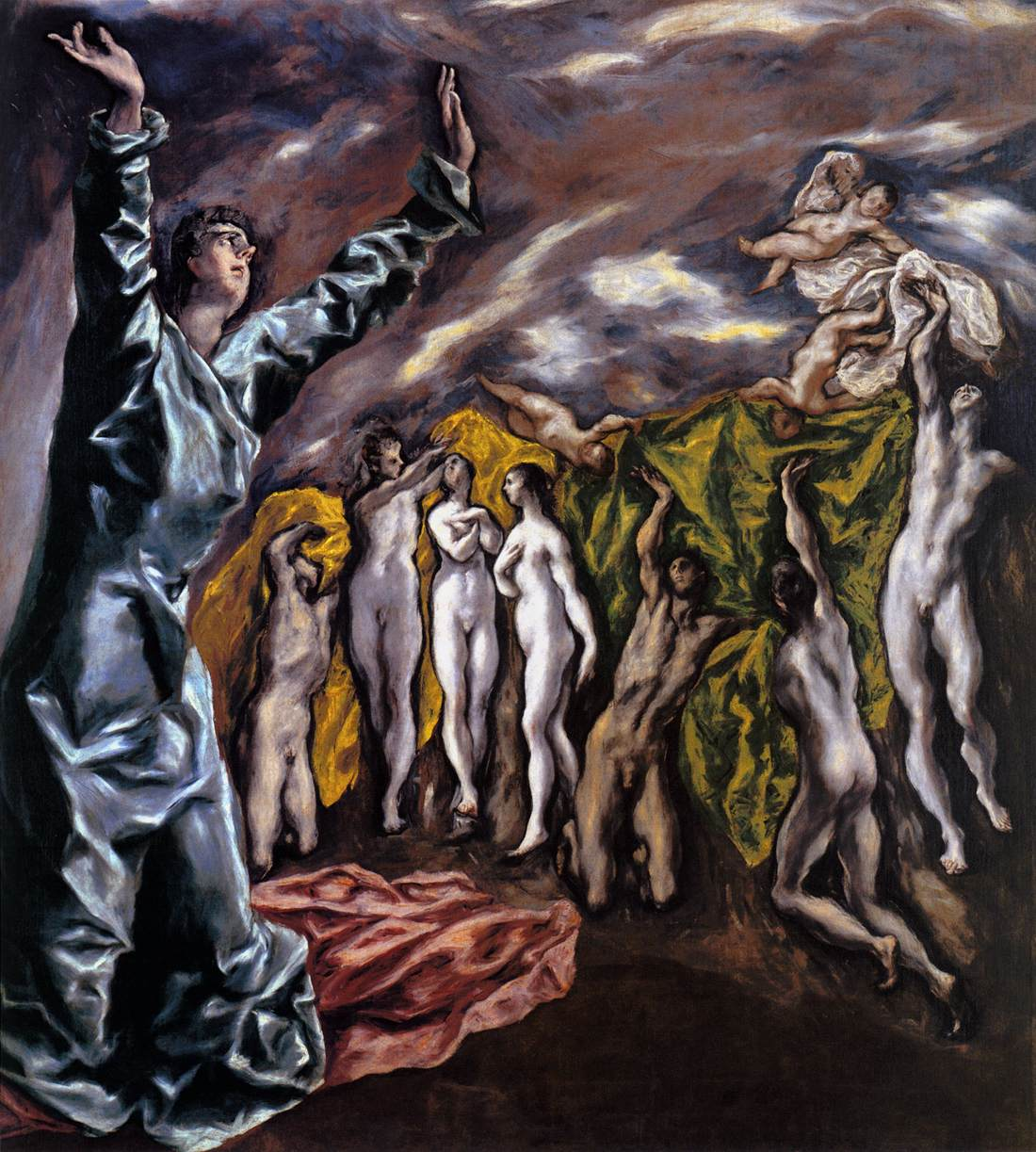 El Greco, The Opening of the Fifth Seal (1608–1614, oil, 225 × 193 cm.) New York, Metropolitan Museum.