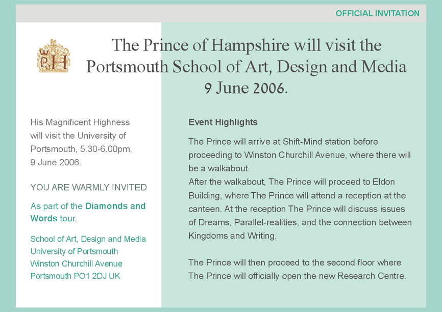 Ad design for the film The Prince of Hampshire (2006) by Gil Dekel.