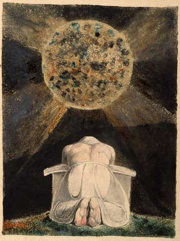 Image of William Blake, Sconfitta (1795, frontpiece illustration for Song of Los.)