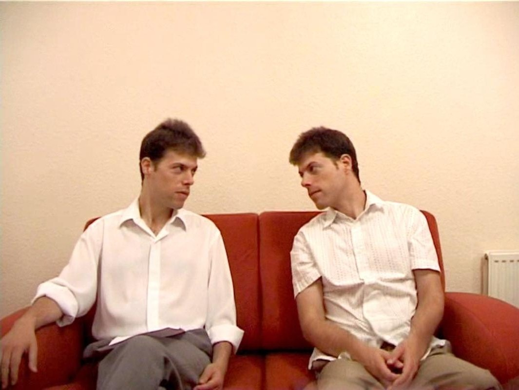 Still image from the film Interview with authorial-Self (2007). Image © Gil Dekel.