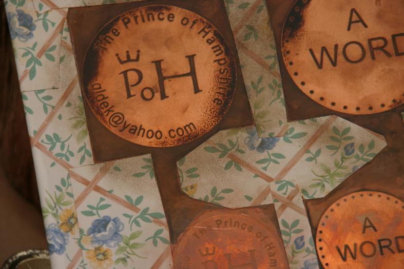 Acid etching on cooper for making Prince Coin, for The Prince of Hampshire (2006). Image © Gil Dekel.