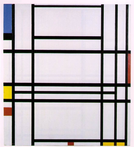 Piet Mondrian, Composition 10 (1939-1942). Private collection (Lauder Collection, New York). Image © 2013 Mondrian/ Holtzman Trust c/o HCR International USA.