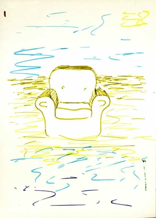 Figure 114: A drawing made by a participant in participatory art workshop. Image © Gil Dekel.