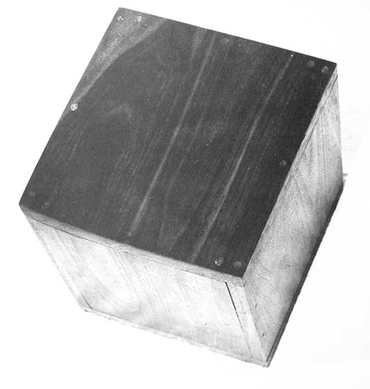 Robert Morris, Box With The Sound of Its Own Making (1961, walnut box, speaker, tape recording of the sound of making the box.) Image © the artist/the Morris Studio. Permission to use image obtained from the Morris Studio via the Design and Artists Copyright Society, UK (DACS).