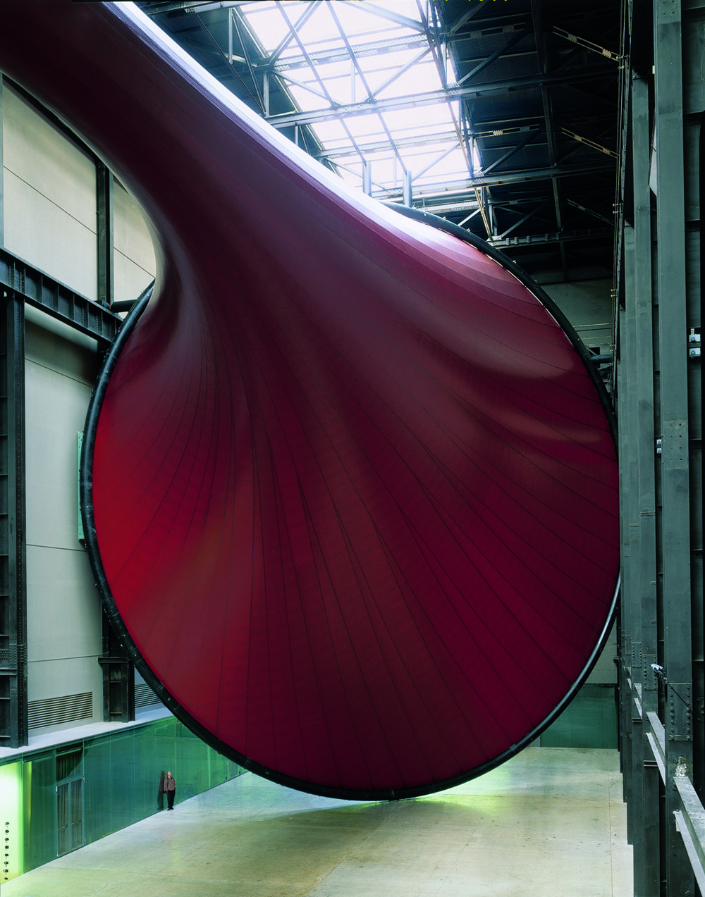 Figure 99: Anish Kapoor, Marsyas (2002, PVC and steel installation.) Installation view: Tate, London, 2002-2003. Photo: John Riddy. Courtesy: Tate. Image supplied by Anish Kapoor Studio. Permission to use image obtained from Anish Kapoor Studio via Lisson Gallery.